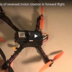 Quadcopter Reversed Prop Rotation Configuration